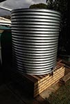 Galvanised tank on existing stand