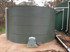 Fully installed Aquaplate tank
