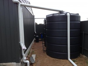 Fully installed poly tanks