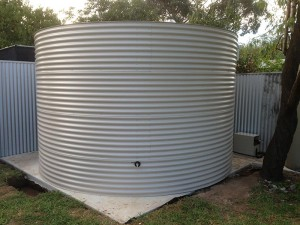 Built on site Aquaplate tank